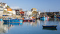 Mevagissey cornwall england uk harbour on the south coast of europe Stock Image