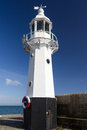 Mevagissey cornwall england uk lighthouse on the pier at europe Stock Images