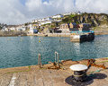 Mevagissey cornwall england uk pier at europe Stock Image