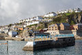 Mevagissey cornwall england uk pier at europe Royalty Free Stock Image