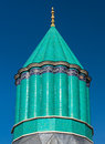 Mevlana museum in konya turkey the green dome of the where the founder of the whirling dervishes is buried anatolia Royalty Free Stock Photos