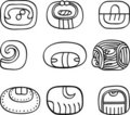 Mexican, aztec or maya motifs, glyphs Royalty Free Stock Image