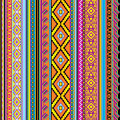 Mexican background vector striped seamless with a ornament Stock Photo