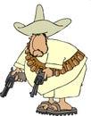 Mexican bandito Royalty Free Stock Photo