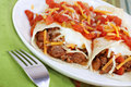 Mexican Beef Burritos Royalty Free Stock Image