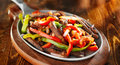 Mexican beef fajitas panorama Royalty Free Stock Photo