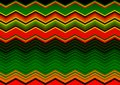 Mexican Blanket Stripes Seamless Vector Pattern. Old Typical vintage colorful woven fabric from central america, zig zag texture Royalty Free Stock Photo