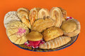 Mexican bread basket assorted in Royalty Free Stock Photo