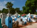 Mexican cemetery typical colourful of a small city Stock Photo