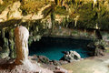 Mexican centoes ancient cenote underground lake in the cave in yucatan state mexico Stock Photography