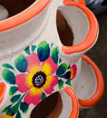 Mexican ceramic pot, multiple holes Royalty Free Stock Photo