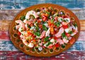 Mexican Ceviche recipe with shrimp Royalty Free Stock Photo