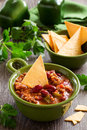 Mexican chili con carne traditional appetizer beans Royalty Free Stock Photo