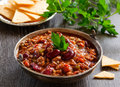 Mexican chili con carne traditional appetizer beans Stock Photography