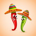 Mexican chili vector illustration of dancing Stock Photography