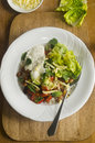 Mexican chilli beans with avocado and lettuce Stock Image
