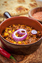 Mexican chilli con Carne with red lentils Royalty Free Stock Photography