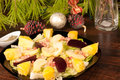 Mexican  Christmas salad Royalty Free Stock Photo