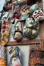 Mexican Colorful Hand Painted Skulls Skeleton, Masks Of Animals, Dias De Los Muertos Day Of The Death Dead