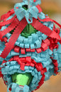 Mexican colorful piñata traditional star shape from mexico important part of parties and celebrations in culture very popular Royalty Free Stock Photo
