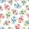 Mexican Day of the Dead Sugar Skulls 4 Seamless Pattern