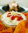 Mexican Dip With Nachos Royalty Free Stock Photo