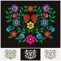 Mexican ethnic Floral vector with Lovely and adorable design