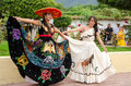 Mexican festival queens beautiful young women in traditional costumes in village of san nicolas jalisco mexico Stock Images