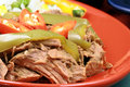 Mexican fiesta meat plate Royalty Free Stock Photo