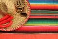 Mexičan pončo slávnosť mexiko