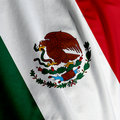 Mexican Flag Closeup Royalty Free Stock Photos