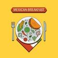 Mexican food flat