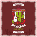 Mexican food poster vector template design