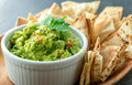 Mexican guacamole dish. Royalty Free Stock Photo