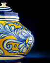 Mexican handcrafted vase Royalty Free Stock Photos