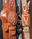Mexican leather belts belt selection of and stitching sometimes called cowboy or charro in mexico Royalty Free Stock Photos