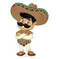Mexican man cartoon folding hands