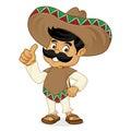 Mexican man cartoon giving thumbs up