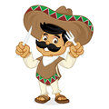 Mexican man cartoon holding fork and knife
