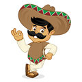 Mexican man cartoon leaning