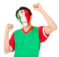 Mexican man celebrating Stock Photo