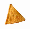 Mexican nacho tortilla chip on white background chip Royalty Free Stock Photos