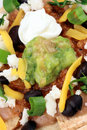 Mexican nachos perfect meal Stock Images