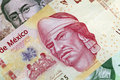 Mexican One Hundred Peso Plastic Bill Stock Image