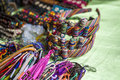 Mexican otomi dolls headband hairband for sale in the sunday market in mexico Stock Image