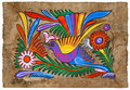 Mexican painting on amate paper Royalty Free Stock Photo