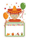 Mexican party card Stock Photo