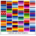 Mexican pattern set a of six six style patterns Stock Images