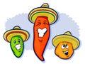 Mexičan papriky nošení sombrera
