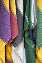 Mexican poncho fabric varoius colours Stock Photography